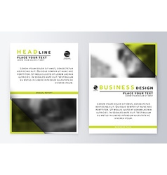 Flyer cover design green Template brochure vector