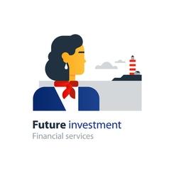Future finances investment management business vector image