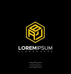 Geometric letter bav logo design polygon monogram vector