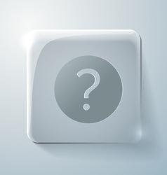 Glass square icon the question mark vector image