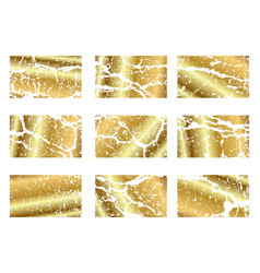 golden frame brush line or texture dirty vector image