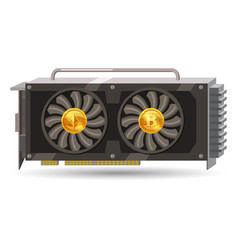 Gpu videocard for mining isolated icon blockchain vector