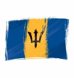 Grunge Barbados flag vector