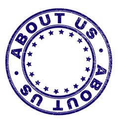 Grunge textured about us round stamp seal vector