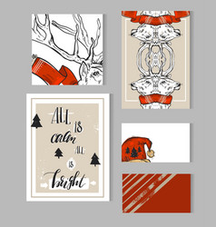 hand drawn abstract merry christmas vector image