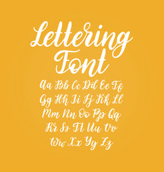 hand lettering alphabet calligraphy font vector image
