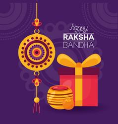 Happy raksha bandhan celebration vector