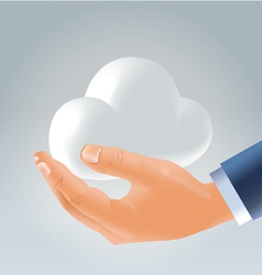holding cloud vector image