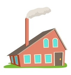House with chimney icon cartoon style vector