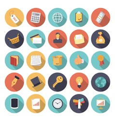 icons flat colors business concept vector image