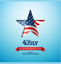 independence day of the usa vector image