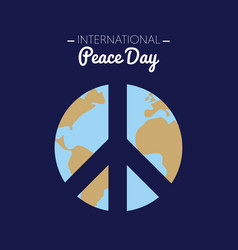 International peace day with the earth forming vector
