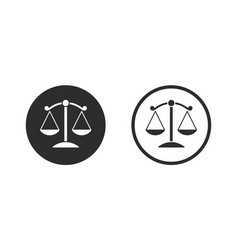 Justice scales icon vector