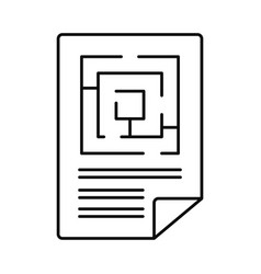 Labyrinth solution icon outline style vector