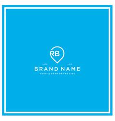 Letter rb pin logo design vector