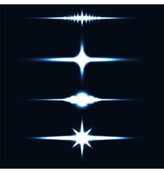 Light effect stars vector