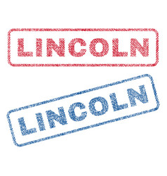Lincoln textile stamps vector