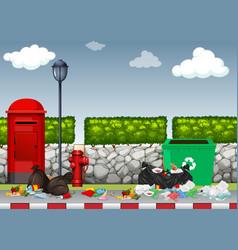 litter inon the street vector image