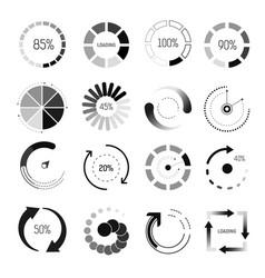 loading indicators isolated icons percentage vector image