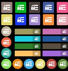 Lock login icon sign Set from twenty seven vector