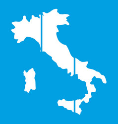 Map of italy icon white vector