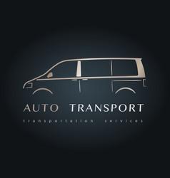 modern minivan silhouette vector image