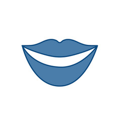 Mouth icon image vector