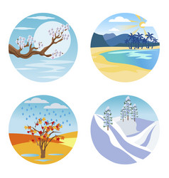 nature at different seasons times year vector image