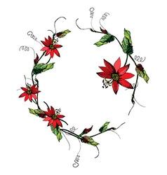 Passiflora wreath vector image