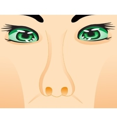 Person with eye and nose vector