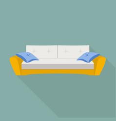 Pillow sofa icon flat style vector
