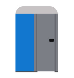 Public toilet flat vector