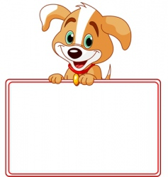 Puppy place card vector