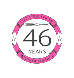 Realistic forty six years anniversary celebration vector