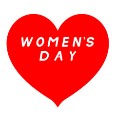red heart sharp tip for womens day with white vector image