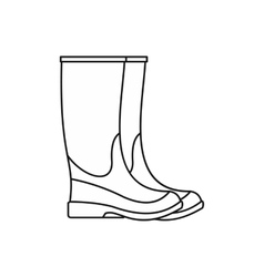 Rubber boots icon outline style vector
