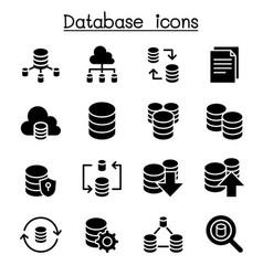 server database hosting sharing cloud computing vector image