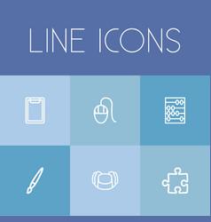 Set of 6 editable teach icons includes symbols vector