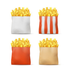 Set potatoes french fries vector