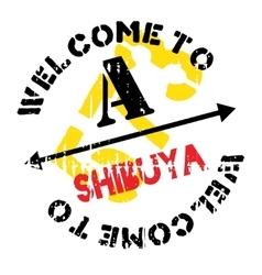 Shibuya stamp rubber grunge vector