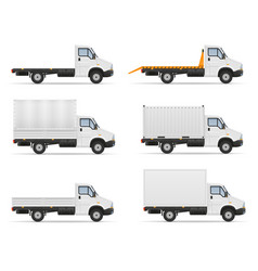 Small truck van lorry for transportation of cargo vector