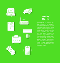 smart home appliances banner template with place vector image