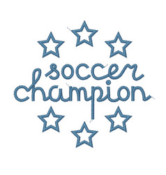 Soccer champion decoration vector