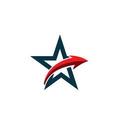 star logo template design vector image