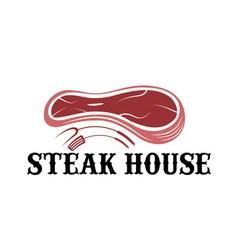 Steak house design template vector