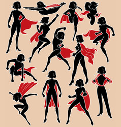 Super heroine in action vector