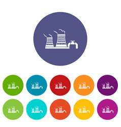 tower of chemical factory icon simple style vector image