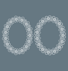 Two oval frames vector