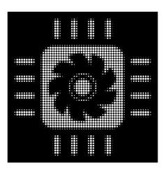 white halftone processor cooler icon vector image