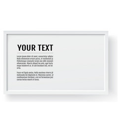 white modern frame horizontal mockup place for vector image